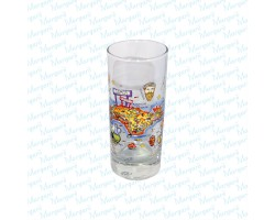 Water Glass Multicolor Map Samos
