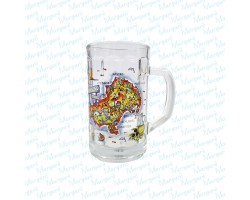 Beer Glass Multicolor Map Skiathos