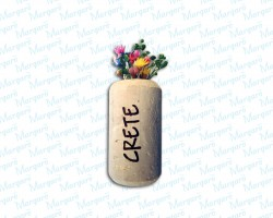Cork with Flowers