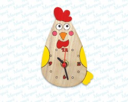 Rooster Clock Magnet